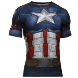 CAPTAIN AMERICA SUIT SS Under Armour Trainig póló